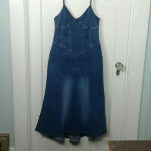 Victoria's Secret Moda Intl. Denim Boho Dress 12